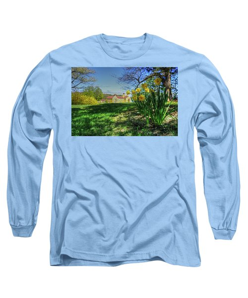 Long Sleeve T-Shirt featuring the photograph Wentworth Daffodils by Wayne Marshall Chase