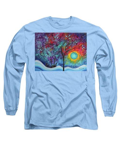 Whimiscal Abstract Original Painting Tree Art By Megan Duncanson Madart Long Sleeve T-Shirt