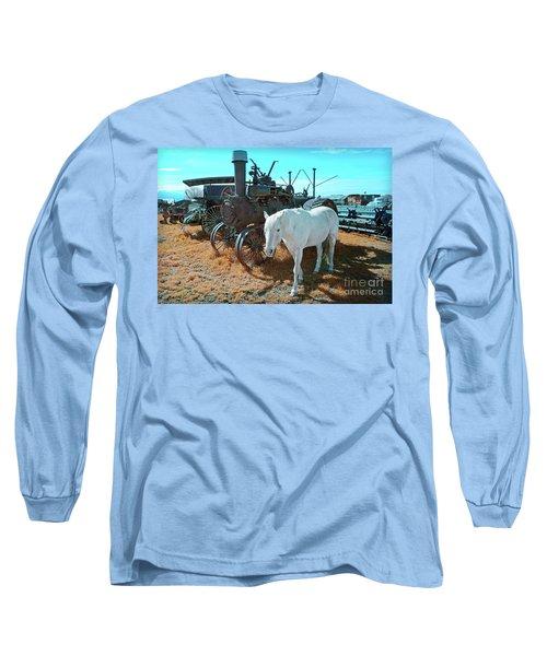 White Horse Iron Horse Long Sleeve T-Shirt