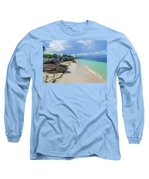 White Sandy Beach Of Cancun Long Sleeve T-Shirt