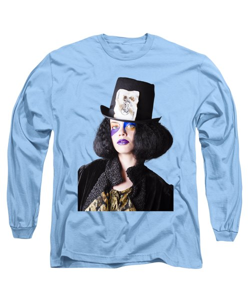 Woman In Joker Costume Long Sleeve T-Shirt