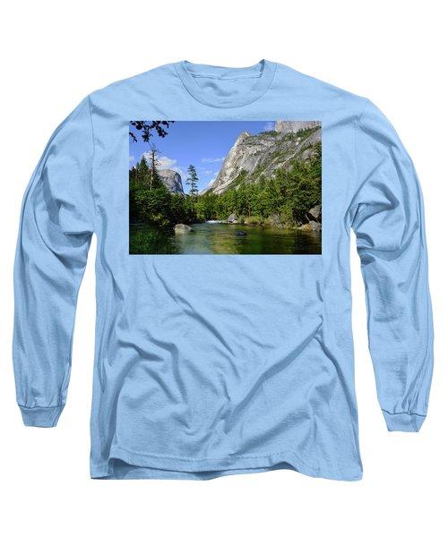Yosemite Mirror Lake, Lower Pool Long Sleeve T-Shirt