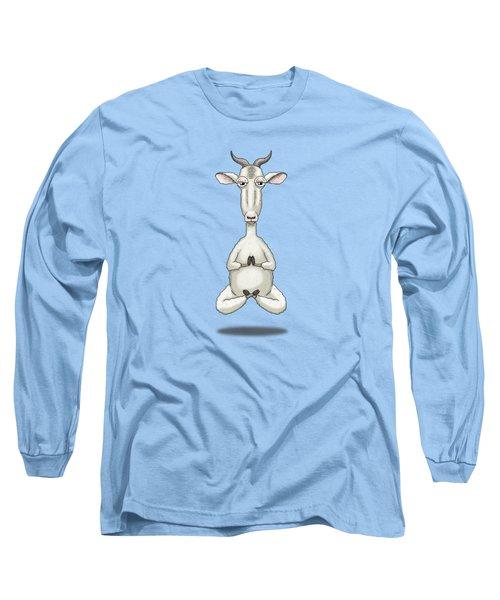 Zen Goat Meditating Long Sleeve T-Shirt