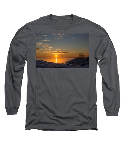 Long Sleeve T-Shirt featuring the photograph -15 Degrees Sunrise by Georgia Mizuleva