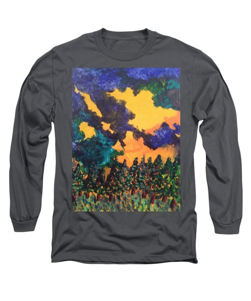 Long Sleeve T-Shirt featuring the painting  A Hotshot Fire by Erika Chamberlin