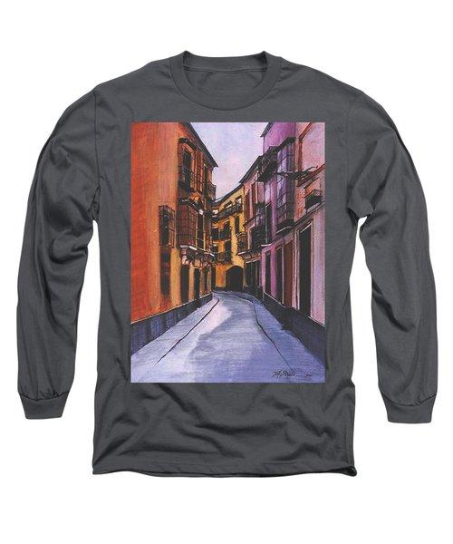 A Street In Seville Spain Long Sleeve T-Shirt