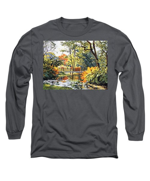 Autumn Water Bridge Long Sleeve T-Shirt