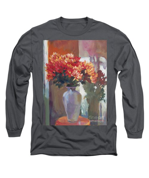 Chrysanthemums In Vase Long Sleeve T-Shirt