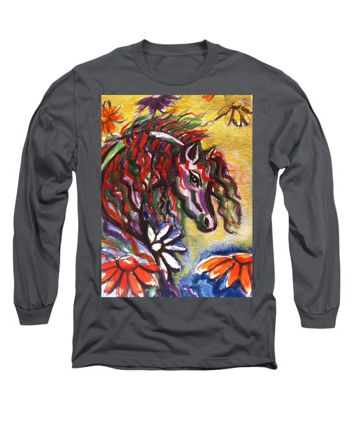 Dream Horse 2 Long Sleeve T-Shirt by Hae Kim
