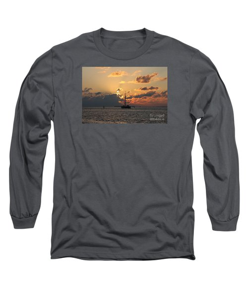 Long Sleeve T-Shirt featuring the photograph Marelous Key West Sunset by Christiane Schulze Art And Photography