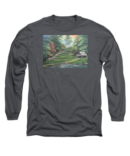 Light Down The River Long Sleeve T-Shirt by Remegio Onia