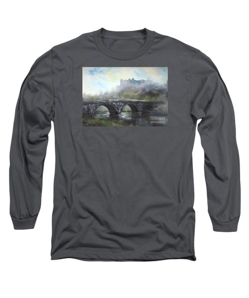 Long Sleeve T-Shirt featuring the painting  Ludlow Castle In A Mist by Jean Walker