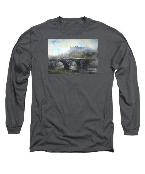 Ludlow Castle In A Mist Long Sleeve T-Shirt by Jean Walker