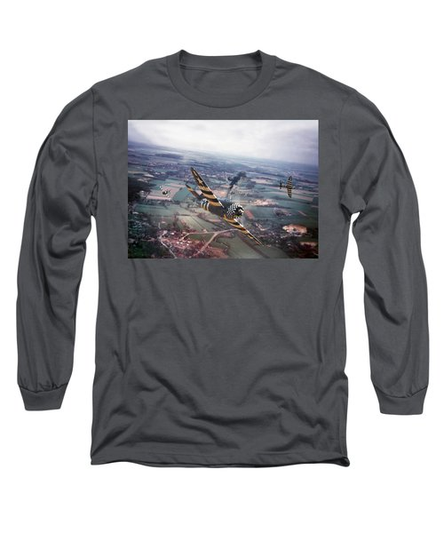 P47- D-day Train Busters Long Sleeve T-Shirt