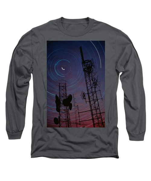 Radio Towers And Star Trails Long Sleeve T-Shirt