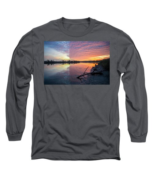 River Glows At Sunrise Long Sleeve T-Shirt