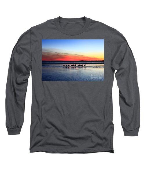 Shorebird Sunset Long Sleeve T-Shirt