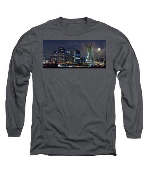 Supermoon In Sao Paulo - Brazil Skyline Long Sleeve T-Shirt