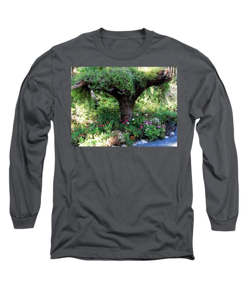 Long Sleeve T-Shirt featuring the photograph  Upside Down Tree by Jennifer Wheatley Wolf