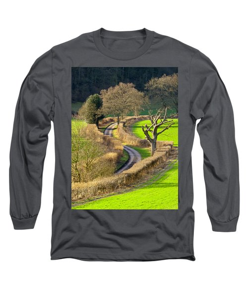 Winding Country Lane Long Sleeve T-Shirt