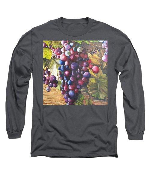 Wine Grapes On A Vine Long Sleeve T-Shirt