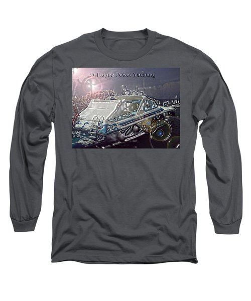 Yacht Art Long Sleeve T-Shirt by Rogerio Mariani