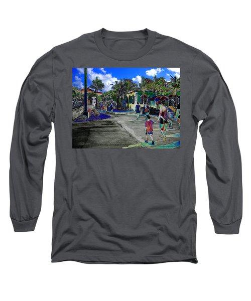 St Croix Stencil  Long Sleeve T-Shirt