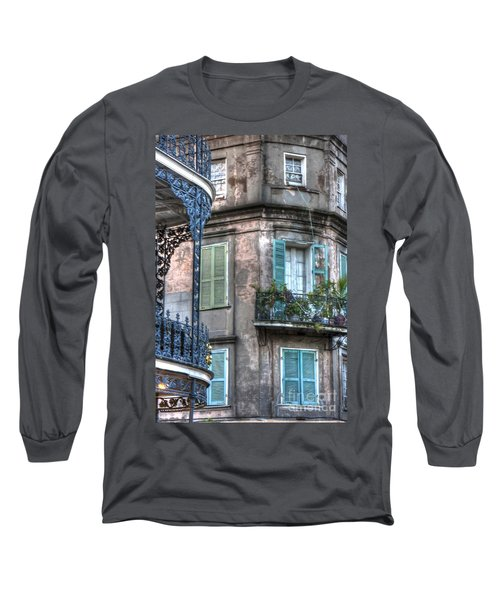 0254 French Quarter 10 - New Orleans Long Sleeve T-Shirt by Steve Sturgill
