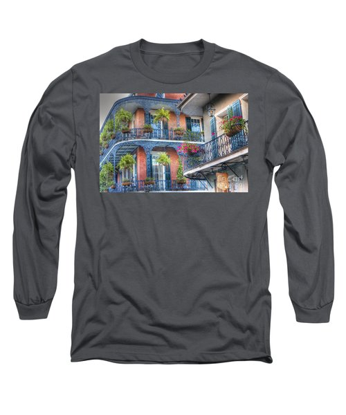 0255 Balconies - New Orleans Long Sleeve T-Shirt