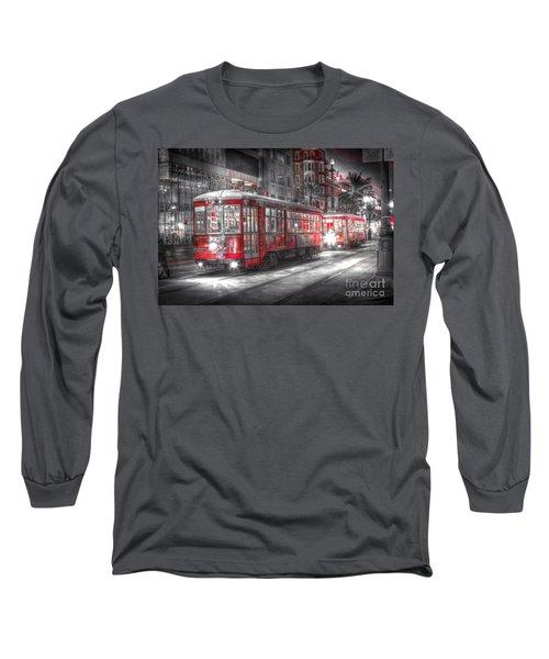 0271 New Orleans Street Car Long Sleeve T-Shirt
