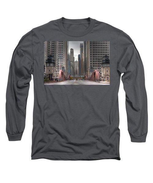 0295 Lasalle Street Chicago Long Sleeve T-Shirt