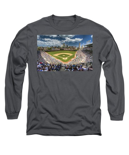 0443 Wrigley Field Chicago  Long Sleeve T-Shirt