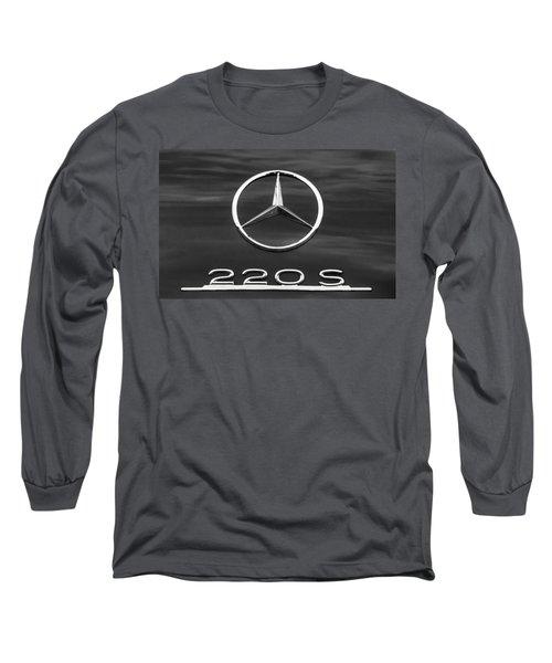 1958 Mercedes-benz 220s Cabriolet Emblem Long Sleeve T-Shirt