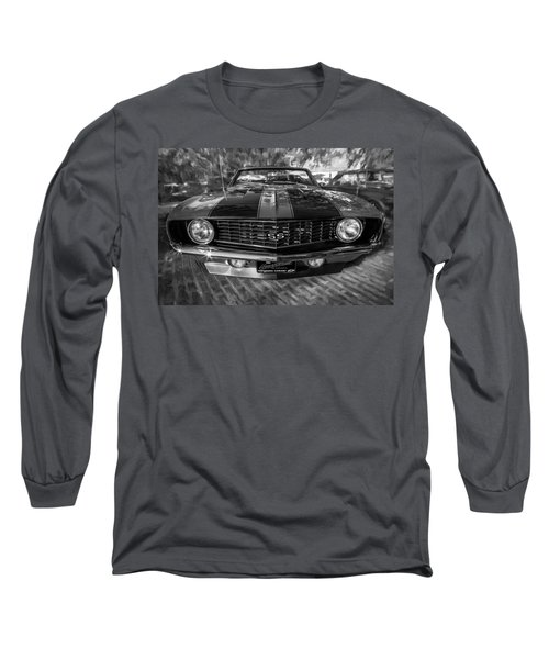 1969 Chevy Camaro Ss Painted Bw Long Sleeve T-Shirt