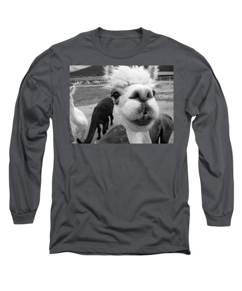 Alpaca Face Long Sleeve T-Shirt