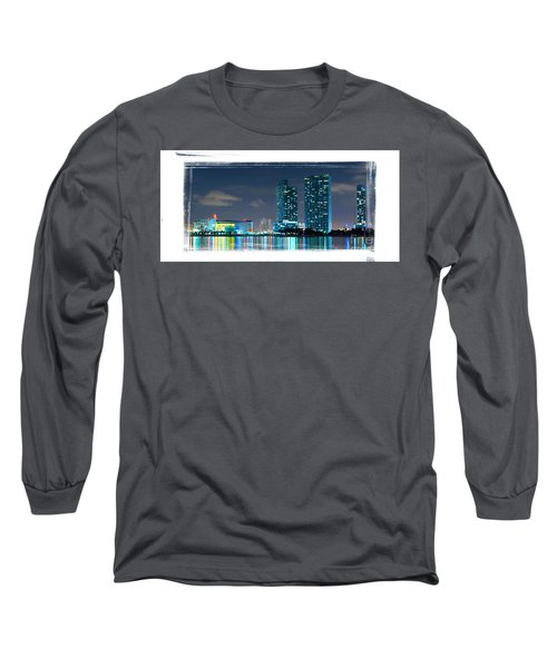 American Airlines Arena And Condominiums Long Sleeve T-Shirt by Carsten Reisinger