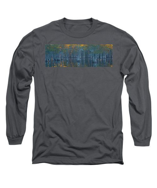 Bald Cypress Trees In A Forest, George Long Sleeve T-Shirt