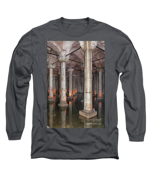 Basilica Cistern 02 Long Sleeve T-Shirt by Antony McAulay