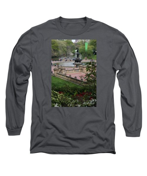 Bethesda Fountain - Central Park Nyc Long Sleeve T-Shirt by Christiane Schulze Art And Photography