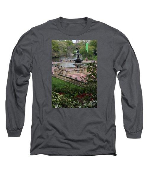 Bethesda Fountain - Central Park Nyc Long Sleeve T-Shirt