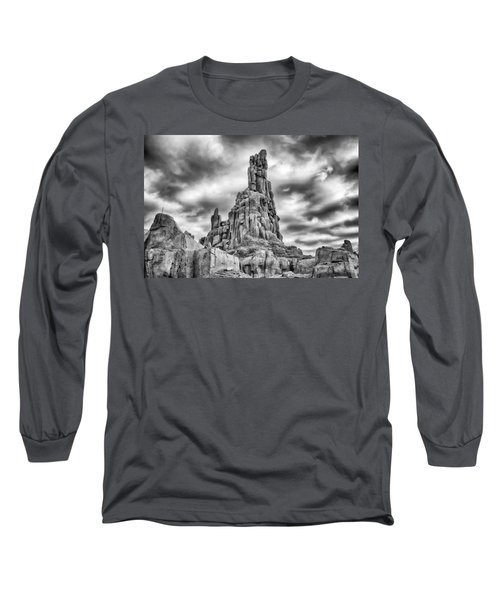 Long Sleeve T-Shirt featuring the photograph Big Thunder Mountain Railroad by Howard Salmon