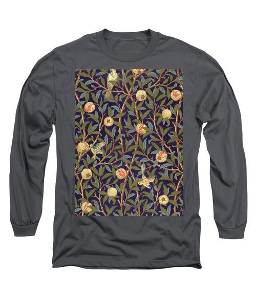 Bird And Pomegranate Long Sleeve T-Shirt
