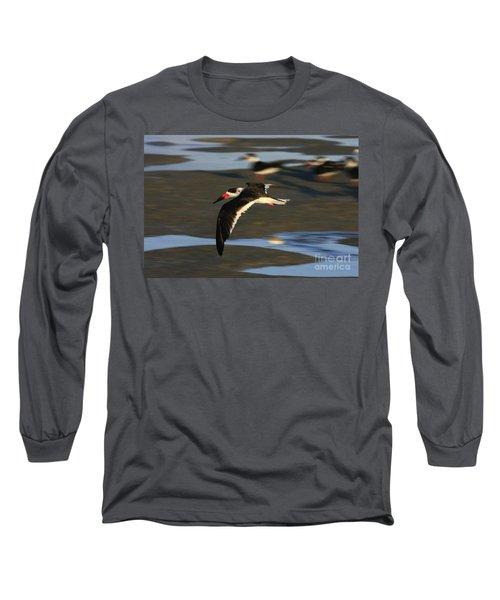 Black Skimmer Beach Long Sleeve T-Shirt