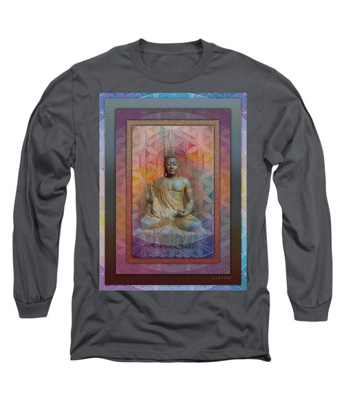 Buddha Long Sleeve T-Shirt by Richard Laeton