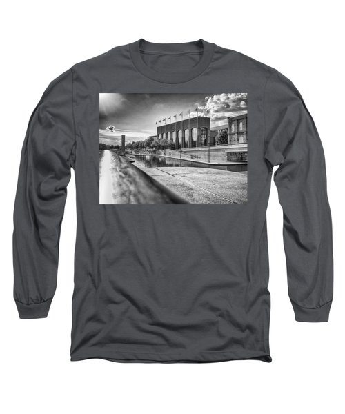 Long Sleeve T-Shirt featuring the photograph Canal Walk by Howard Salmon