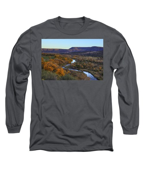 Chama River At Sunset Long Sleeve T-Shirt by Alan Vance Ley