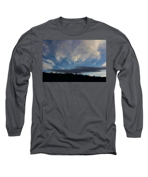 Long Sleeve T-Shirt featuring the photograph Chase The Moonlight by Tammy Espino