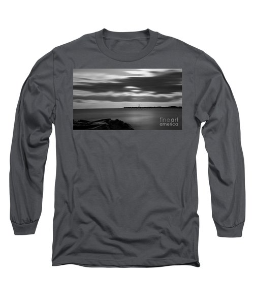 Clouds In Motion Bw Long Sleeve T-Shirt