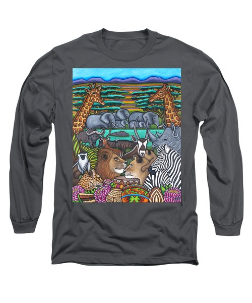 Colours Of Africa Long Sleeve T-Shirt