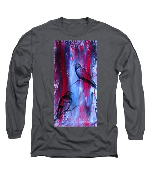 Dark Wings Long Sleeve T-Shirt by Laurianna Taylor
